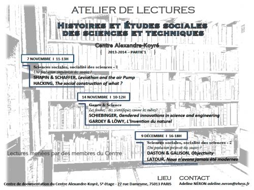 Atelier lectures première partie 2013